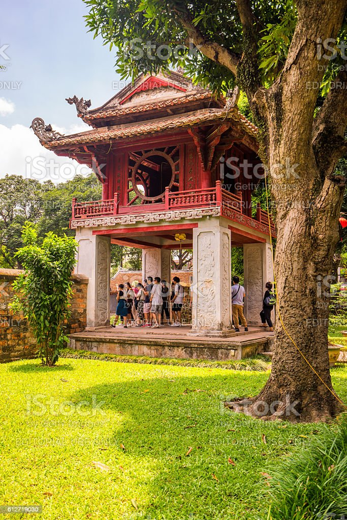 Temple of Literature in Ha Noi stock photo