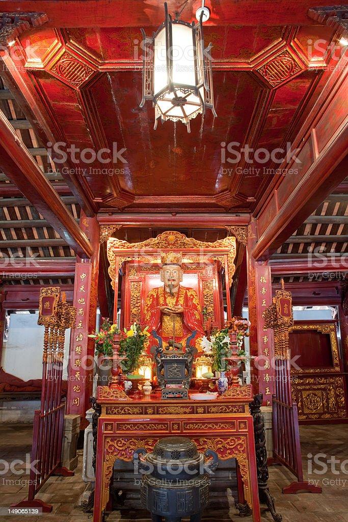 Temple of Literature interior, Van Mieu, Hanoi, Vietnam royalty-free stock photo