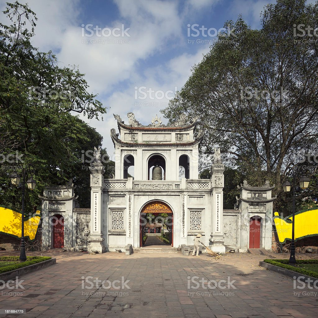 \'Entrance to the Temple of Literature in Hanoi, Vietnam.\'