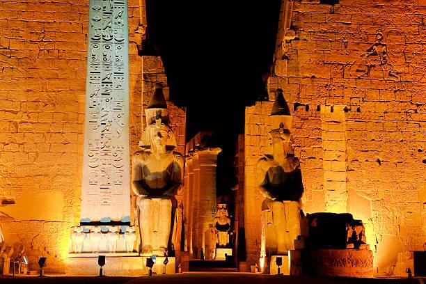 Tempel von Luxor bei Nacht – Foto