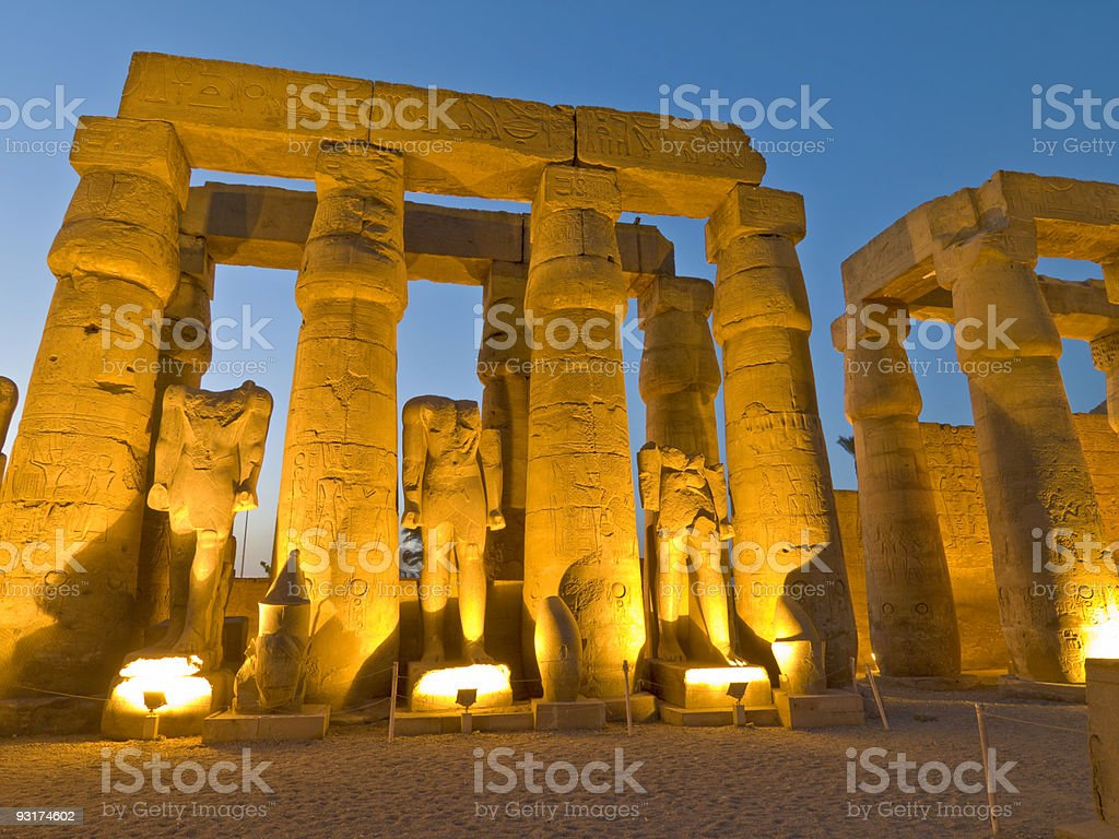 Temple of Luxor, Egypt royalty-free stock photo