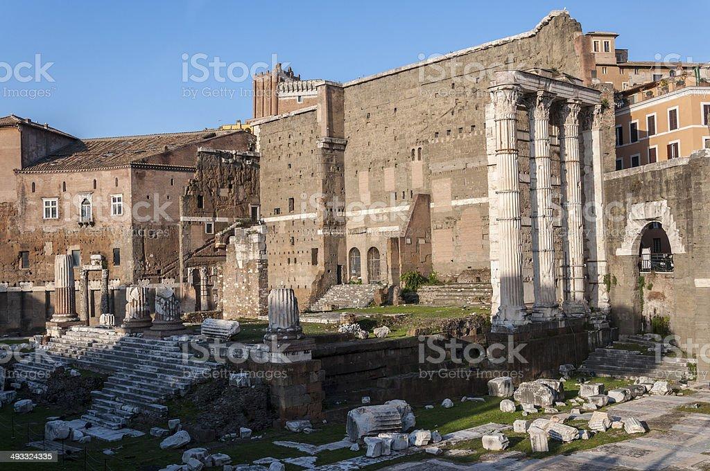 Temple of Mars Ultor stock photo