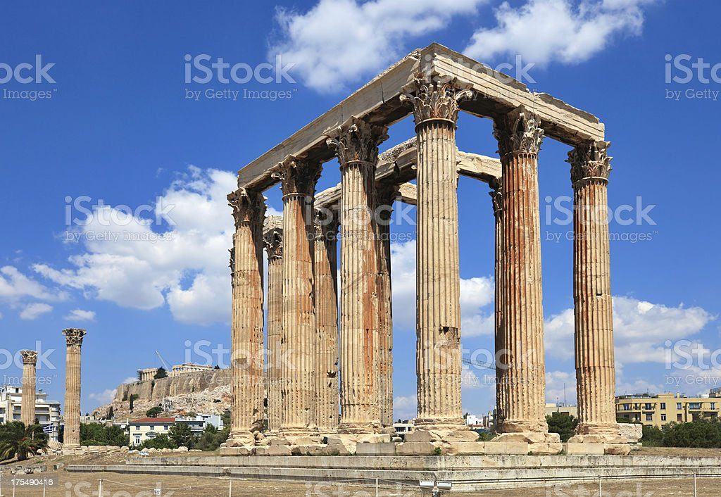 Temple of Olympian Zeus, Athens, Greece royalty-free stock photo
