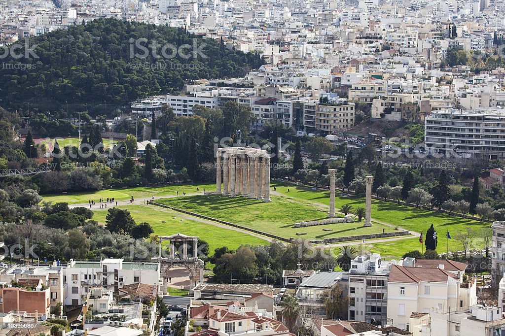Temple of Olympian Zeus, Athens royalty-free stock photo