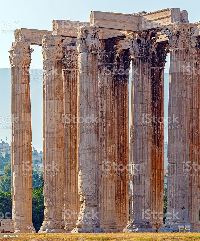 Temple of Olympian Zeus,  Athens stock photo