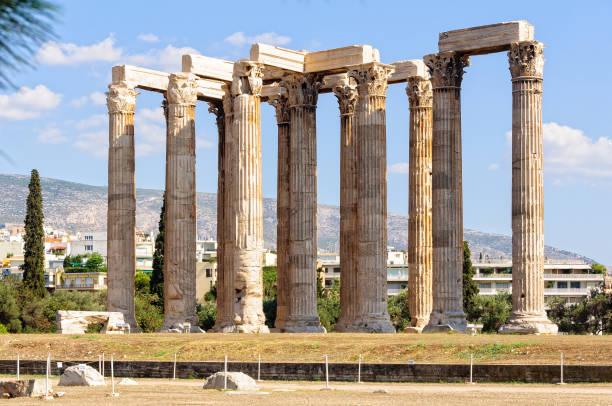 Temple of Olympian Zeus - Athens stock photo