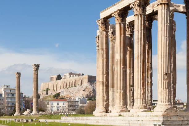 Temple of Olympian Zeus stock photo