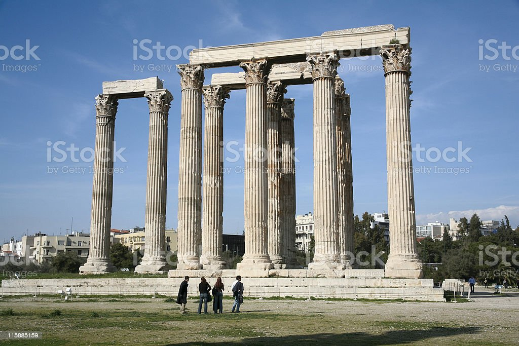 Temple of Olympian Zeus royalty-free stock photo