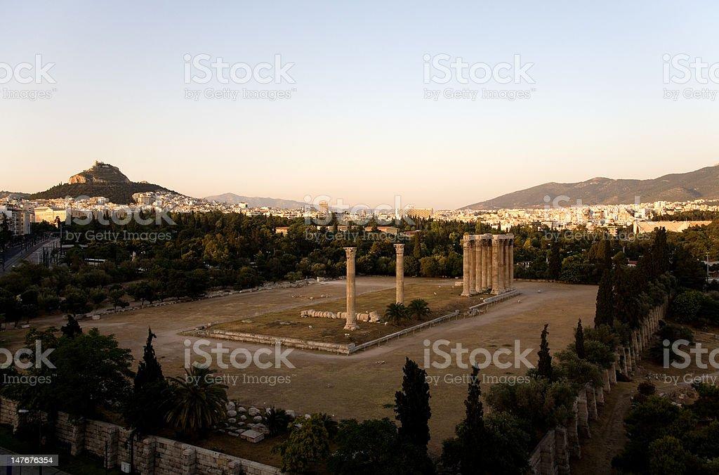 Temple of Olympian Zeus royalty-free stock photo
