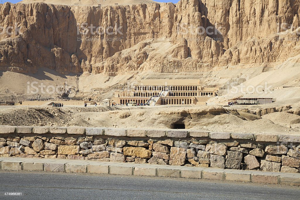 Temple of pharaoh hatshepsut stock photo