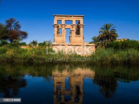 Temple of Philah between the lap of the Nile, Aswan in southern Egypt