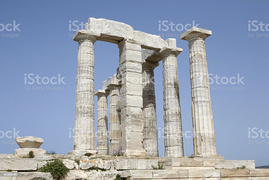 Temple of Poseidon at Sounion royalty-free stock photo