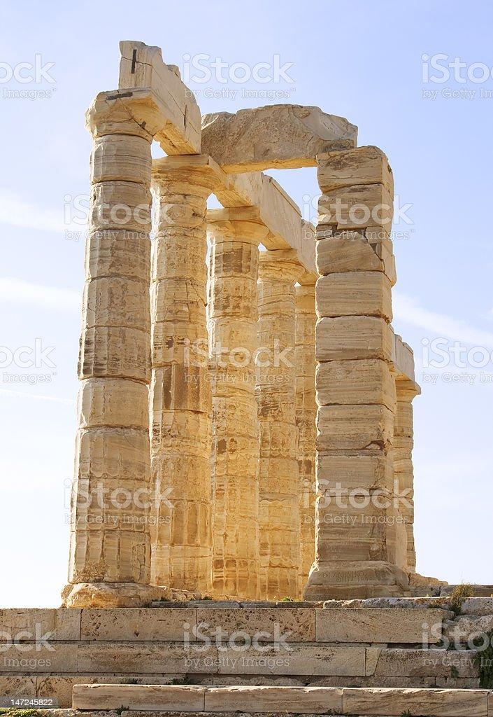 Temple of Poseidon royalty-free stock photo
