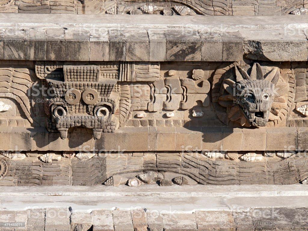 Temple of Quetzalcoatl stock photo