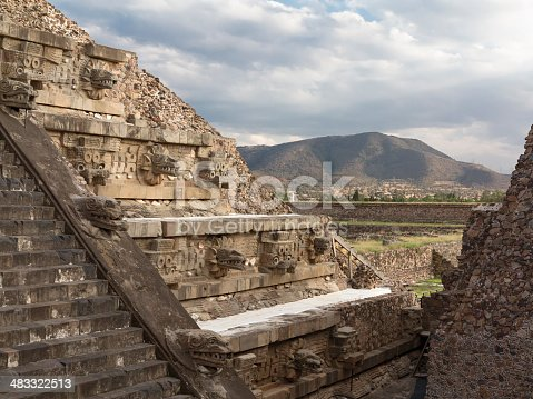 The pyramid of Quetzalcoatl (god of the