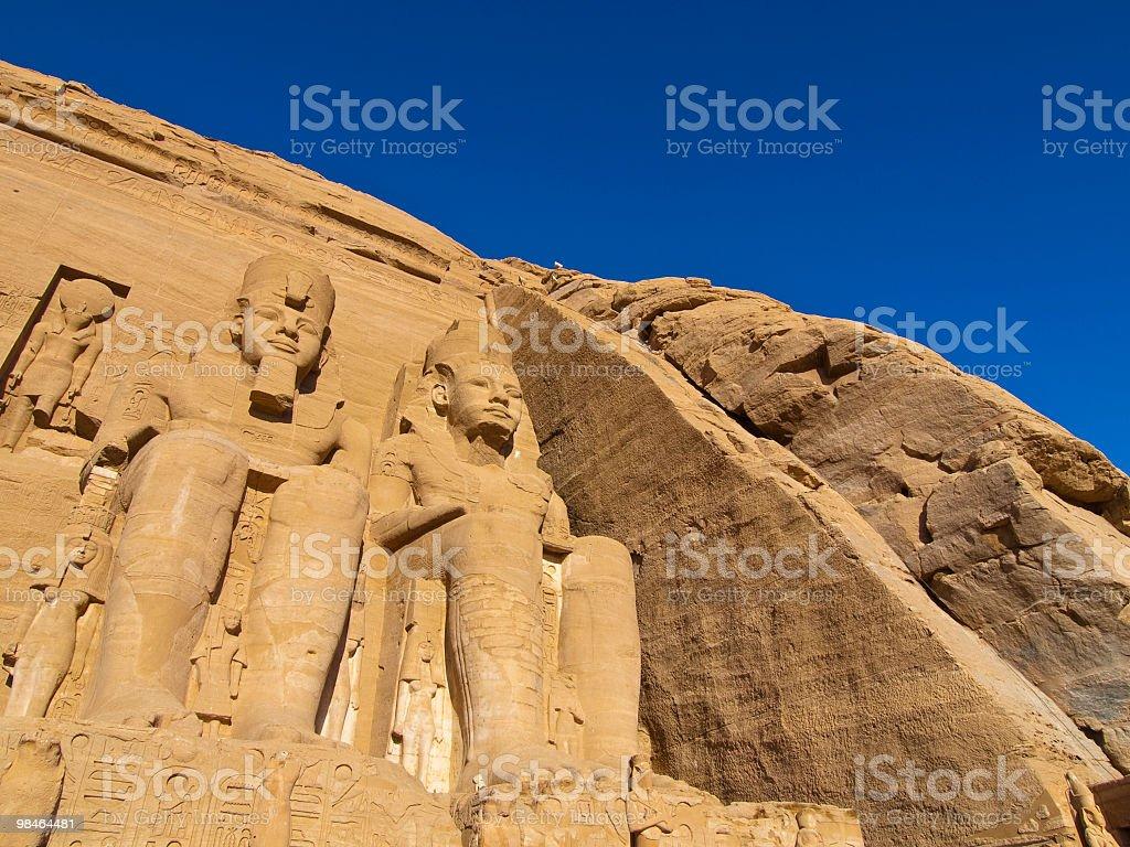 Temple of Ramesses II, Abu Simbel royalty-free stock photo