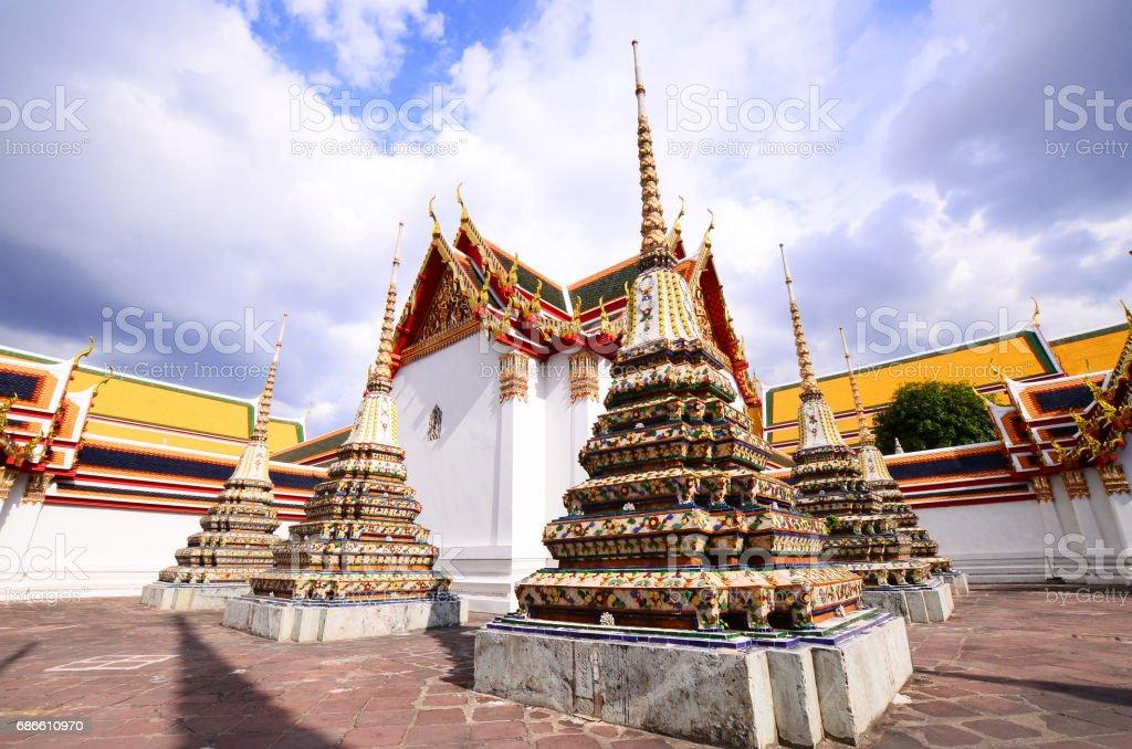 Temple of Reclining Buddha, Wat Pho, Thailand royalty-free stock photo