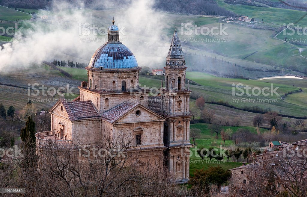 Temple of San Biagio stock photo