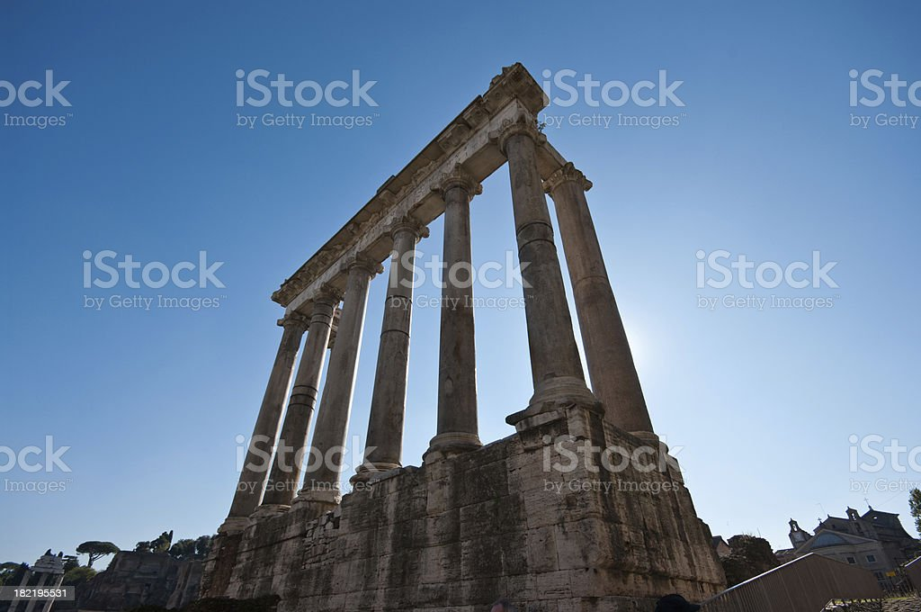 Temple of Saturn royalty-free stock photo