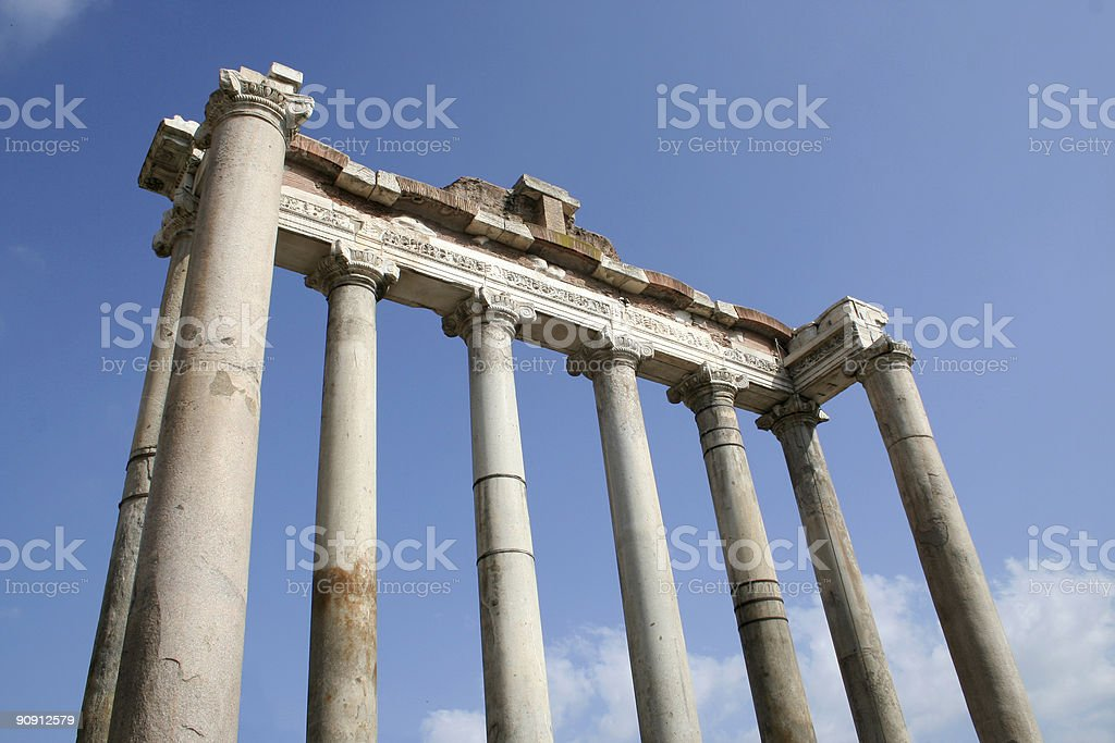 Temple of Saturn stock photo