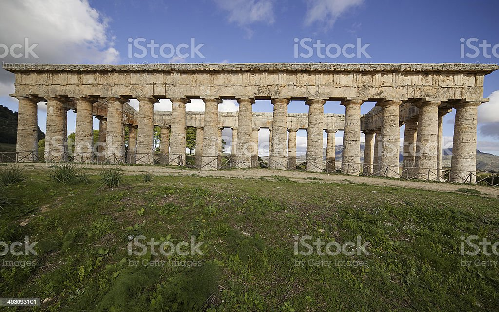 Temple of Segesta ruins. Sicily. Italy. royalty-free stock photo