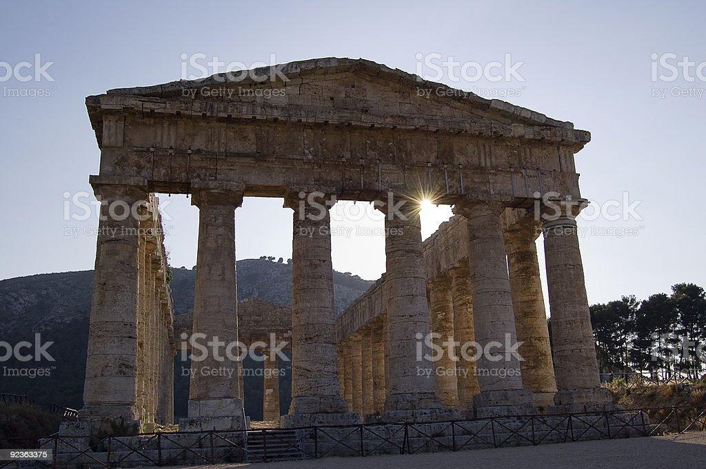 Temple of Segesta, wonderful Sicily royalty-free stock photo