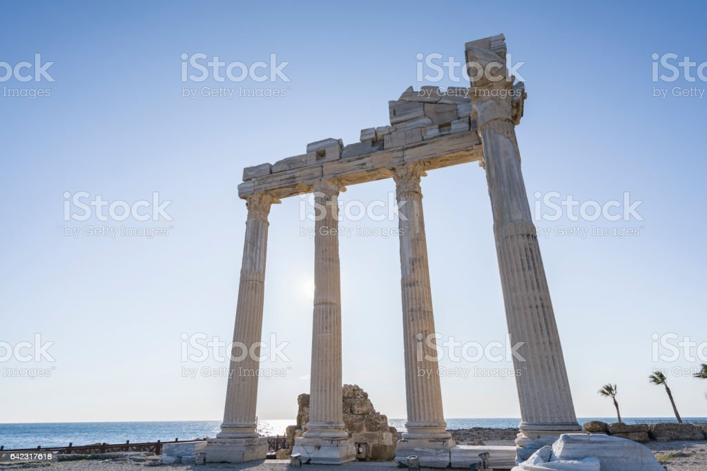 temple of the apollon ,ancient city side turkey stock photo