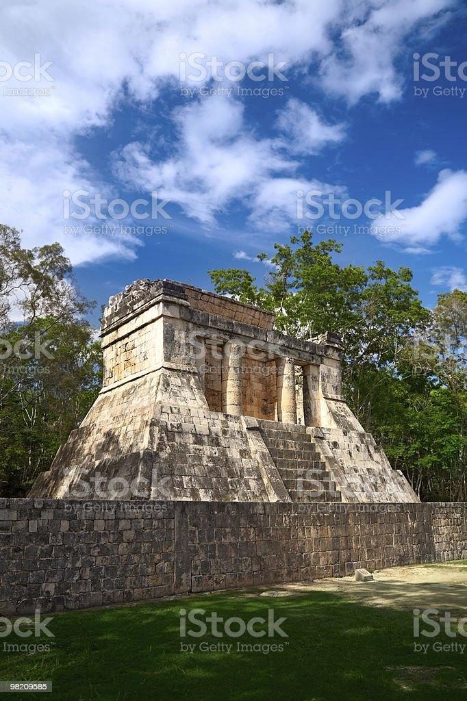 Tempio di uomo con barba, Chichen Itza, Messico foto stock royalty-free