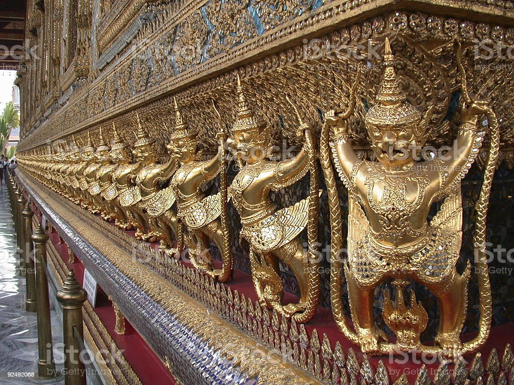 Temple of the Emerald Buddha 2 royalty-free stock photo