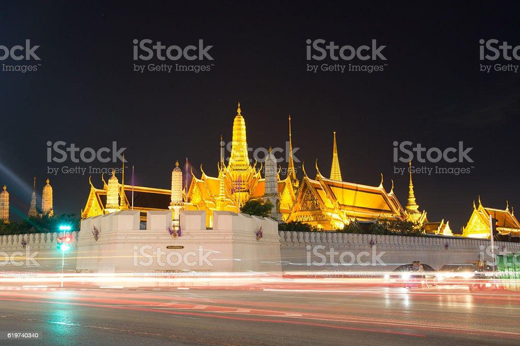 Temple of the Emerald Buddha.(Wat Phra Kaew.) Bangkok, Thailand. stock photo