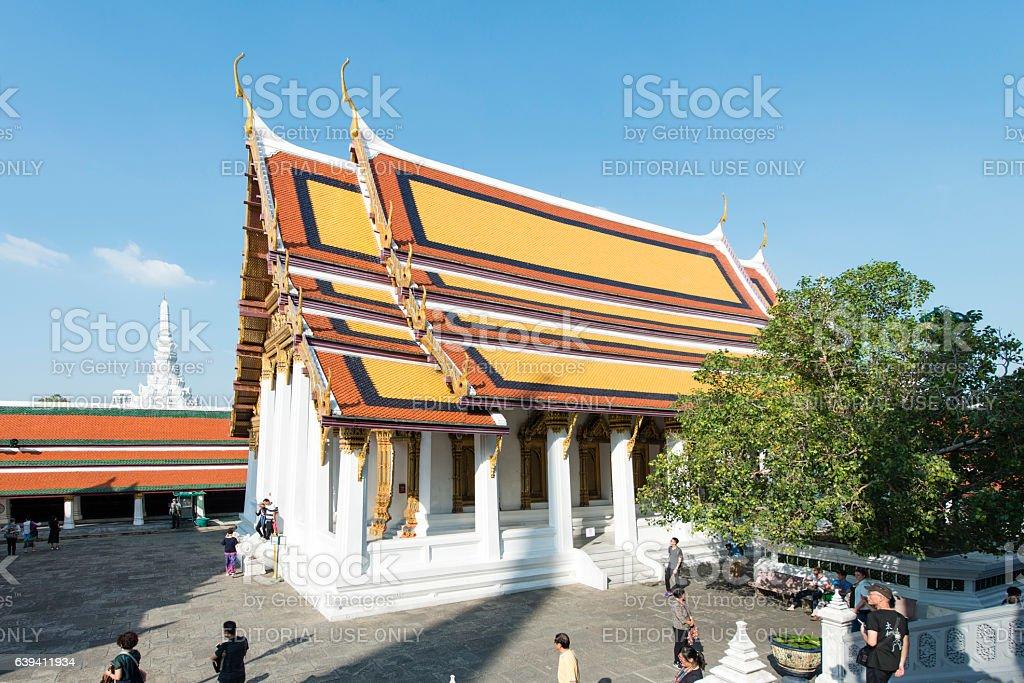 Temple of the Emerald Buddha or Wat Phra Keaw stock photo