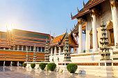The Temple of the Emerald Buddha, Thailand, Bangkok, Wat Phra Kaew. The royal grand palace
