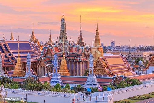 wat phra kaew dusk sunset temple of the emerald buddha grand palacewat phra kaew dusk sunset temple of the emerald buddha, Grand Palace Bangkok, Thailand