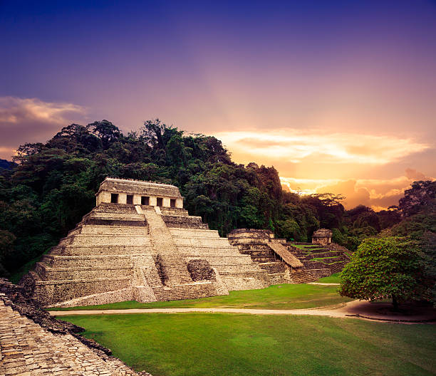 """""""Temple of the Inscriptions"""", Palenque, Maya city in Chiapas,"""