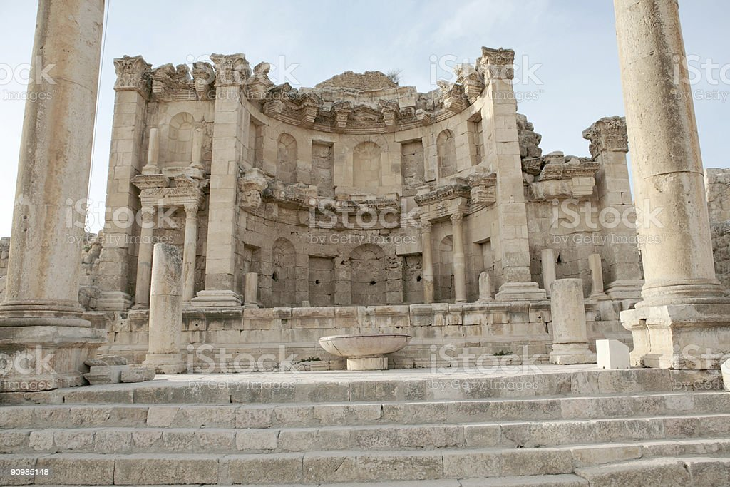 Temple of the Nymphs, Jerash, Jordan royalty-free stock photo