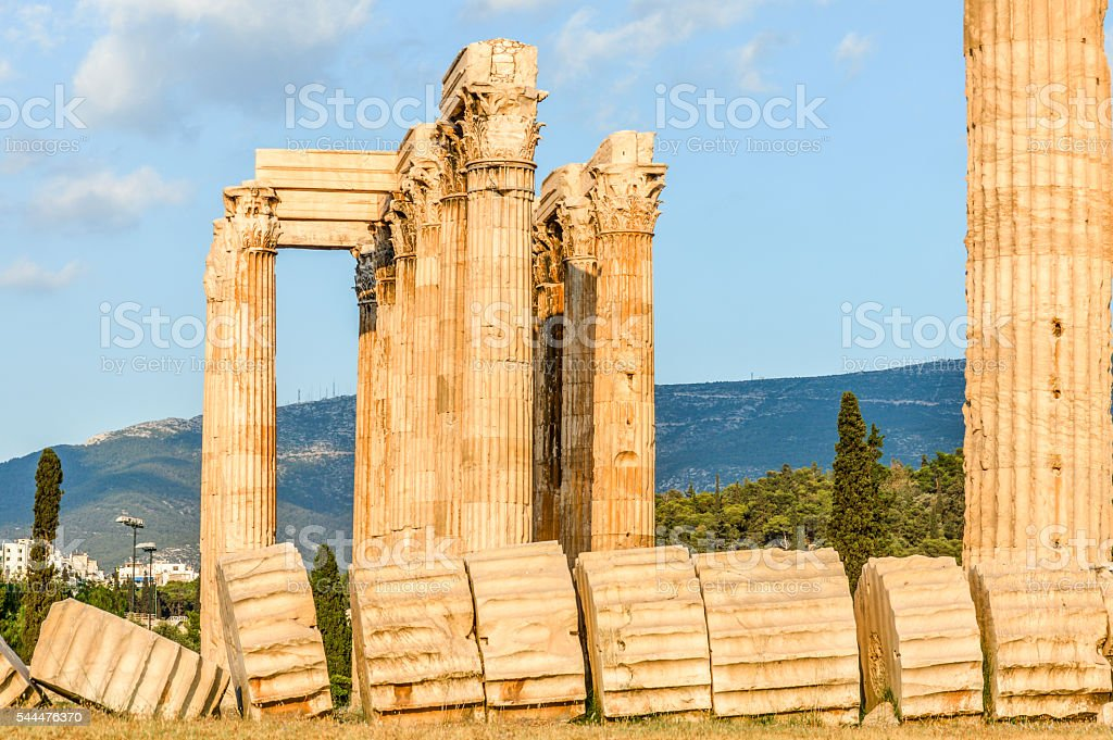 Temple of the Olympian Zeus - Athens, Greece stock photo