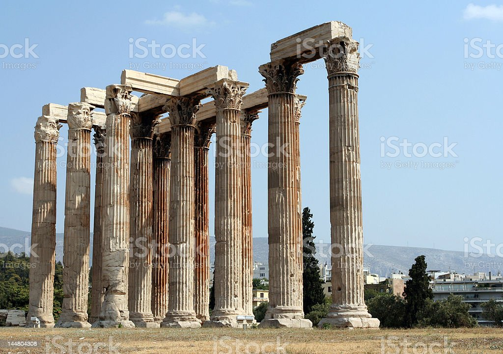 Temple of the Olympian Zeus, Athens royalty-free stock photo