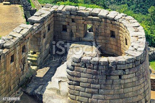 Temple of the Sun at Machu Picchu.