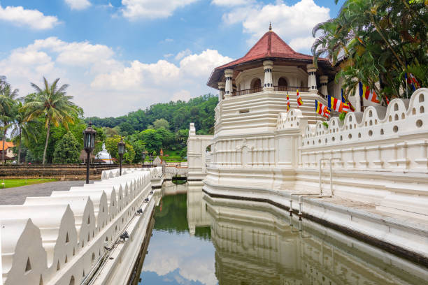 Temple of the tooth in Kandy, Sri-Lanka stock photo