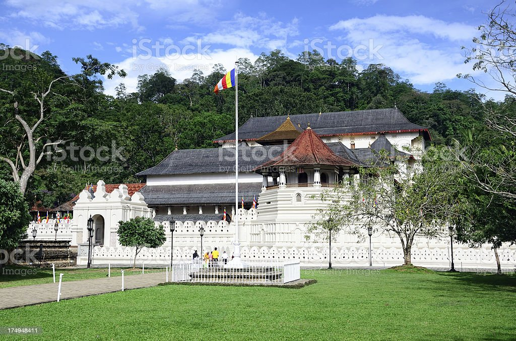 Temple of the Tooth, Kandy royalty-free stock photo