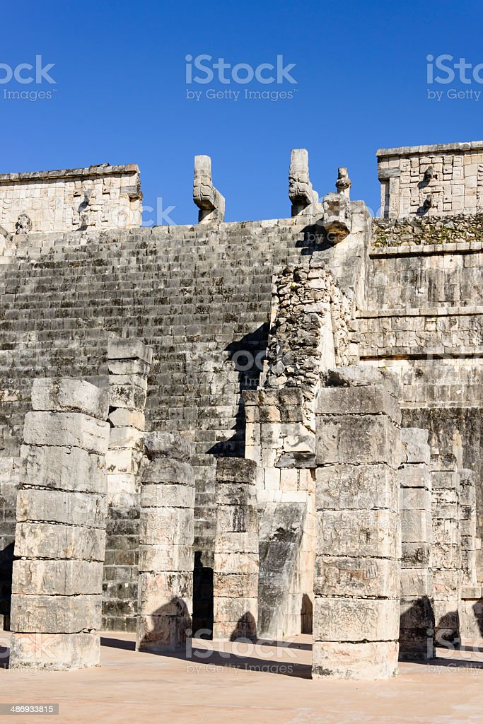 Temple of the Warriors, Chichen Itza, Mexico -XXXL royalty-free stock photo
