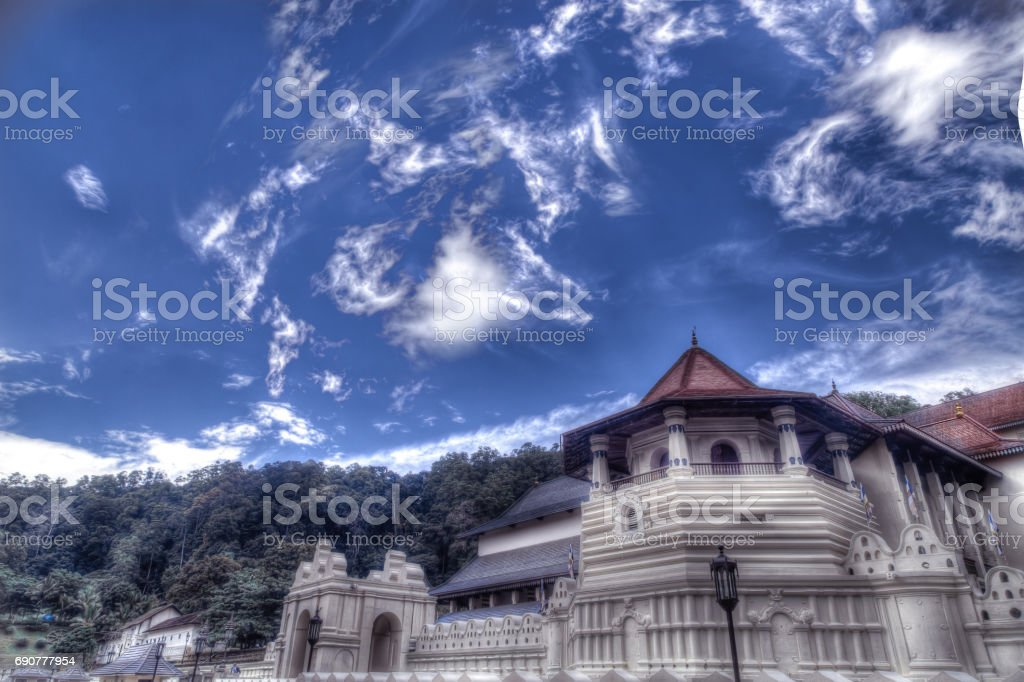 Temple of Tooth Relic, Kandy stock photo