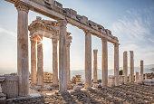 istock Temple of Trajan, Pergamon, Bergama, Izmir, Turkey 628125878