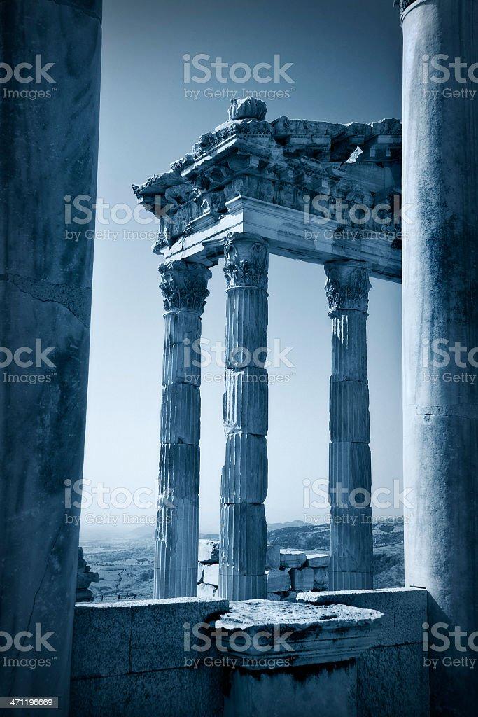 Temple of Trajan royalty-free stock photo