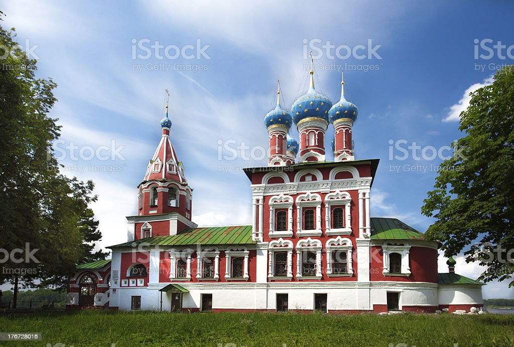 Temple of Tsarevich Dmitry on the Blood in Uglich city royalty-free stock photo