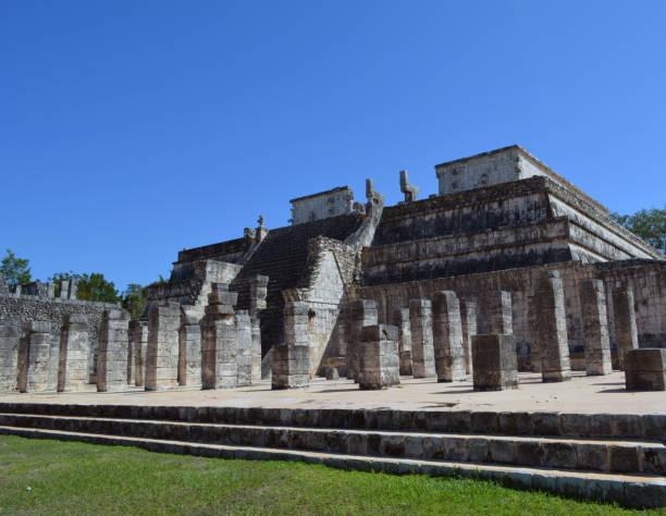 Temple of Warriors stock photo