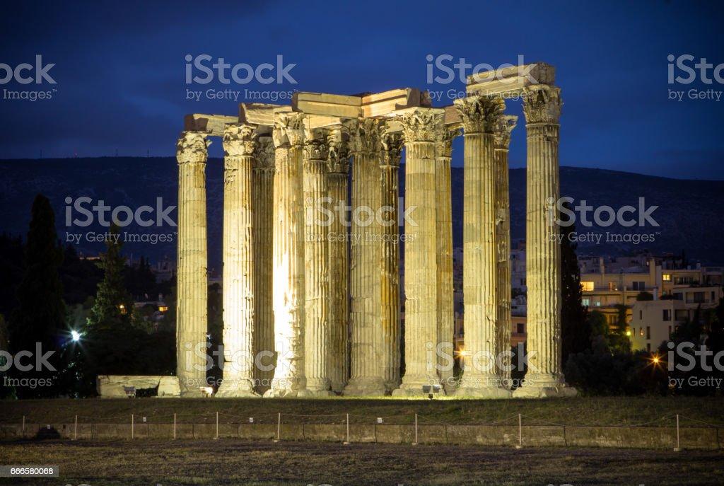 Temple of Zeus, Athens, Greece stock photo