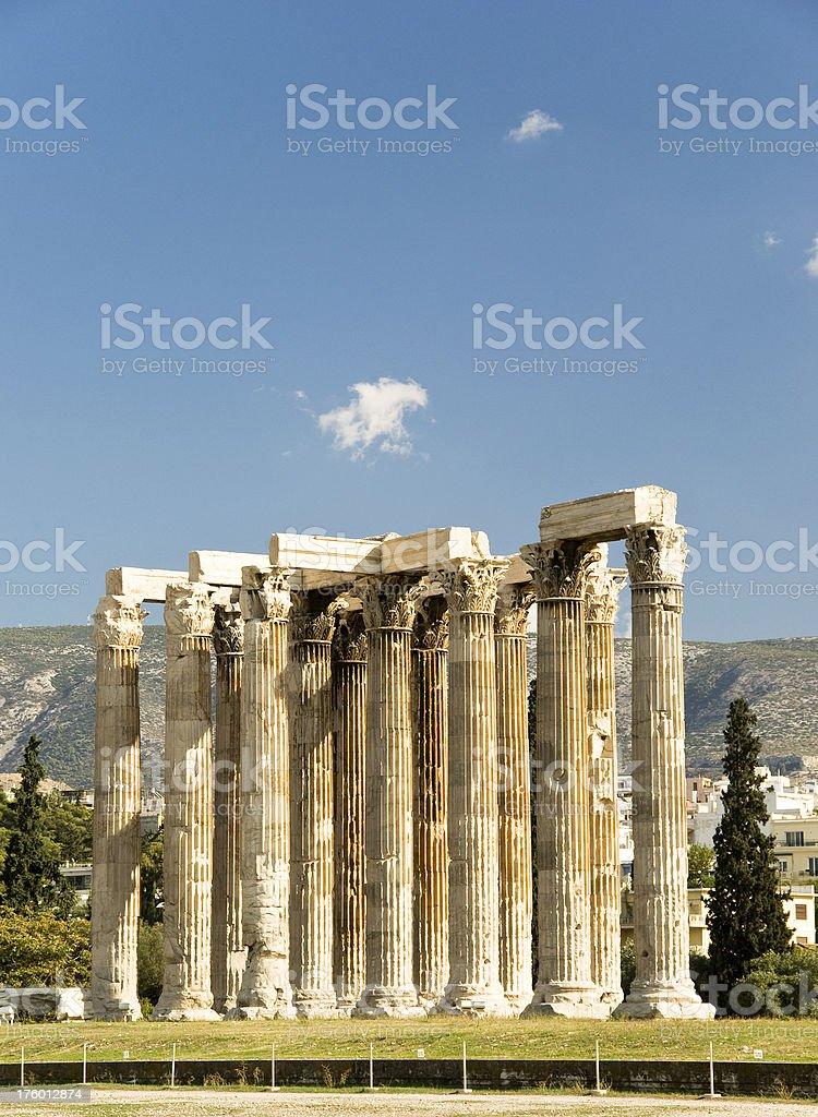Temple of Zeus, Athens stock photo