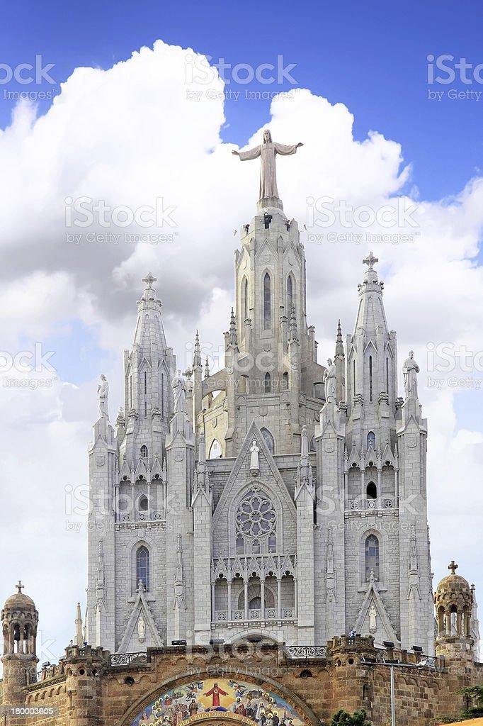 관자놀이 on 산, Barcelona.Spain royalty-free 스톡 사진