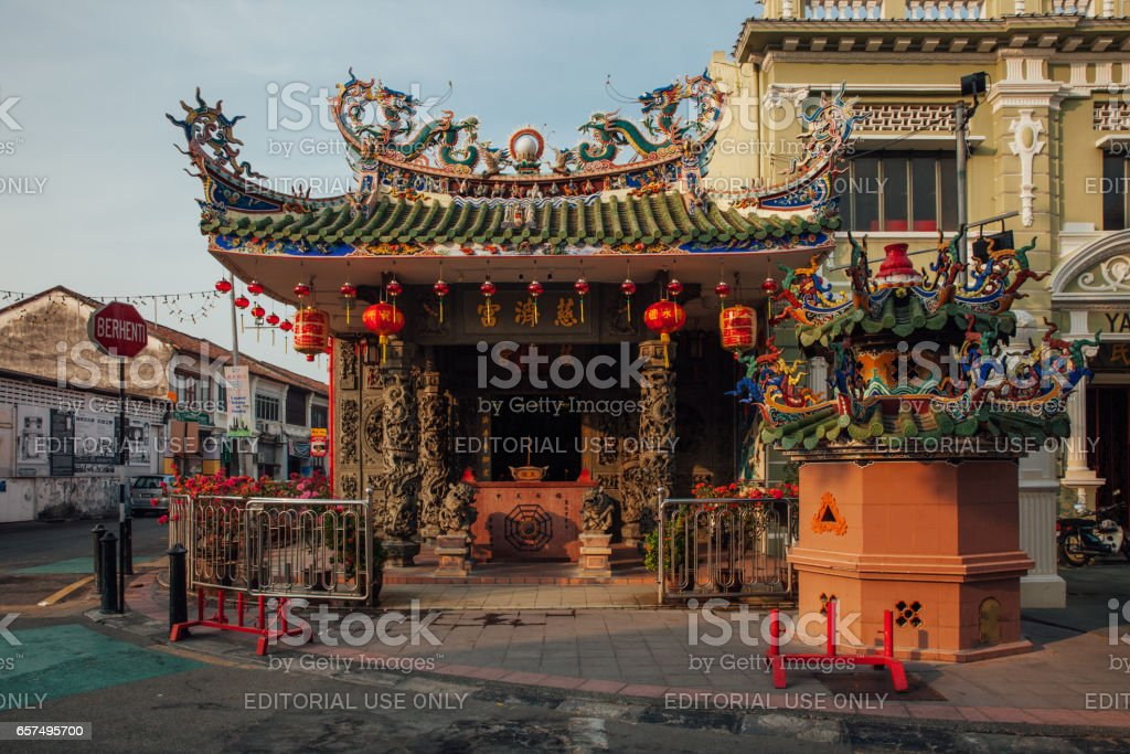 Temple on the Armenian Street, Penang, Malaysia royalty-free stock photo
